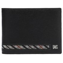 DAKS Gingham Tartan Street Style Leather Folding Wallets