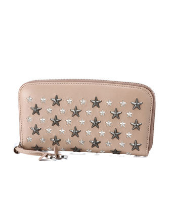 Round zippers long wallet beige FILIPA