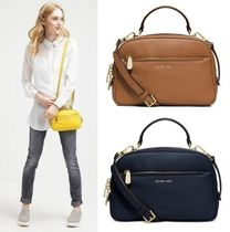 Michael Kors 2WAY Plain Leather Elegant Style Handbags