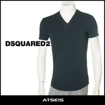 D SQUARED2 Street Style V-Neck Plain Cotton Short Sleeves Luxury