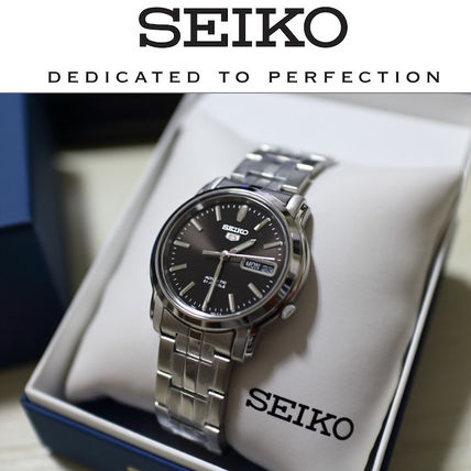 SEIKO Plain Mechanical Watch Stainless Analog Watches