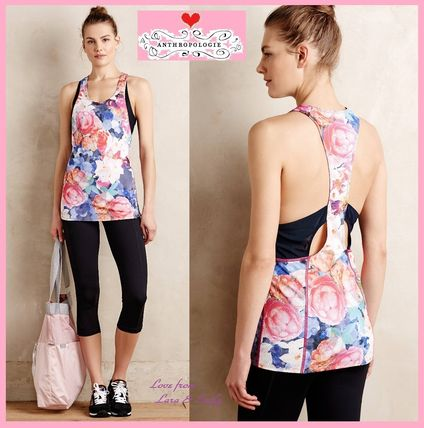 Best price & Anthro rose print Tops Size S