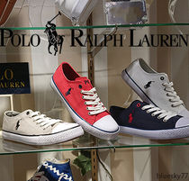 POLO RALPH LAUREN Casual Style Plain Low-Top Sneakers