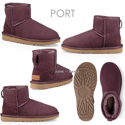 UGG Australia Ankle & Booties Casual Style Sheepskin Plain Ankle & Booties Boots 9