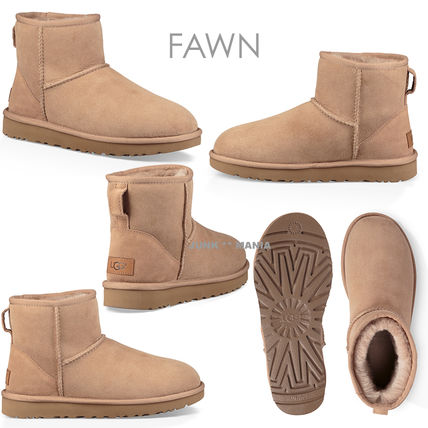 UGG Australia Ankle & Booties Casual Style Sheepskin Plain Ankle & Booties Boots 10