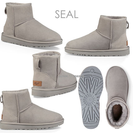 UGG Australia Ankle & Booties Casual Style Sheepskin Plain Ankle & Booties Boots 11