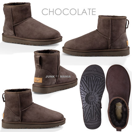 UGG Australia Ankle & Booties Casual Style Sheepskin Plain Ankle & Booties Boots 4