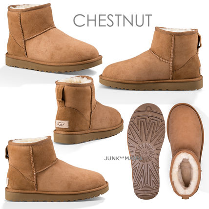 UGG Australia Ankle & Booties Casual Style Sheepskin Plain Ankle & Booties Boots 6
