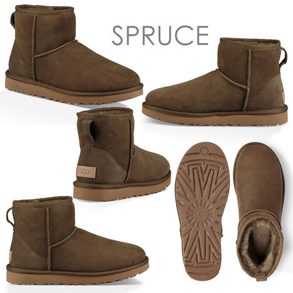 UGG Australia Ankle & Booties Casual Style Sheepskin Plain Ankle & Booties Boots 8
