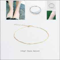 Chain 14K Gold Anklets