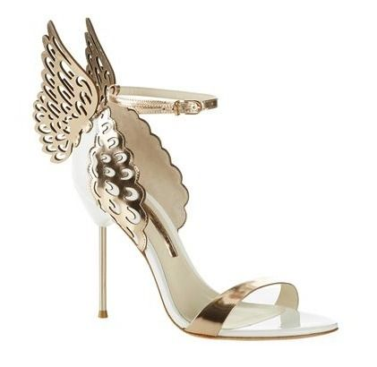 SOPHIA WEBSTER Open Toe Plain Leather Pin Heels Party Style Heeled Sandals