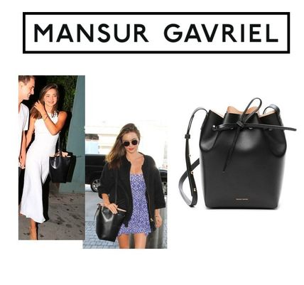 MANSUR GAVRIEL Casual Style Plain Leather Purses Shoulder Bags