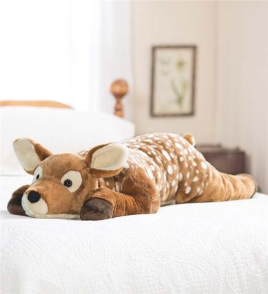 Fuzzy Spotted Fawn Fawn Body Pillow large pillow