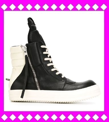 SALE RICK OWENS leather sneakers