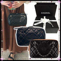 CHANEL Calfskin Party Style Handbags
