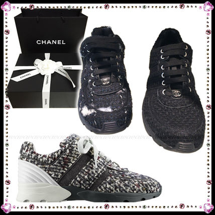 chanel 2016 17aw casual style low top sneakers by winwinco