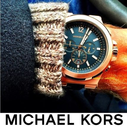 Michael Kors Street Style Plain Silicon Quartz Watches Analog Watches