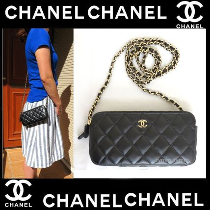 CHANEL Shoulder Bags Lambskin 2WAY Chain Shoulder Bags