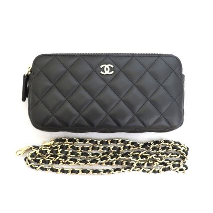 CHANEL Shoulder Bags Lambskin 2WAY Chain Shoulder Bags 11
