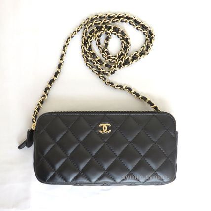CHANEL Shoulder Bags Lambskin 2WAY Chain Shoulder Bags 2