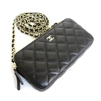 CHANEL Shoulder Bags Lambskin 2WAY Chain Shoulder Bags 3