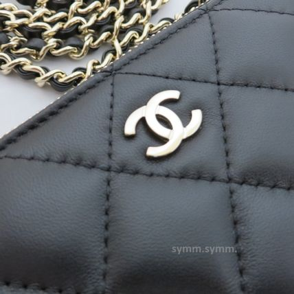 CHANEL Shoulder Bags Lambskin 2WAY Chain Shoulder Bags 4