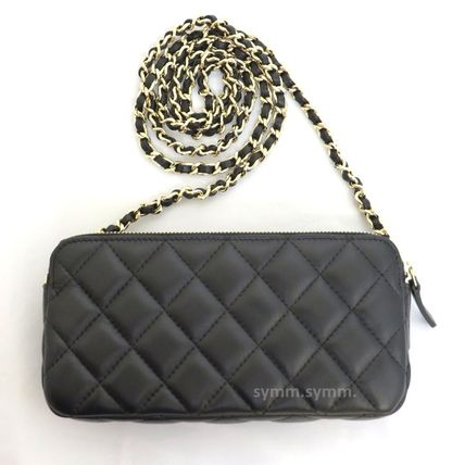 CHANEL Shoulder Bags Lambskin 2WAY Chain Shoulder Bags 5
