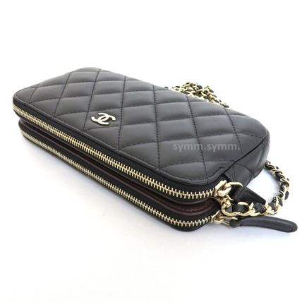 CHANEL Shoulder Bags Lambskin 2WAY Chain Shoulder Bags 7