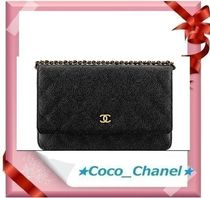 CHANEL Leather Party Style Shoulder Bags