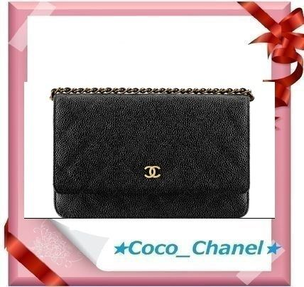 CHANEL Shoulder Bags Leather Party Style Shoulder Bags