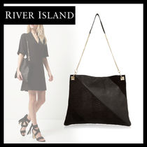 River Island Suede A4 2WAY Plain Other Animal Patterns Office Style