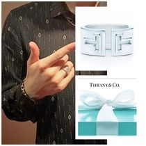 Tiffany & Co Tiffany T Unisex Plain Silver Rings