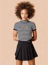 UNIF Clothing Short Stripes Street Style Cotton Short Sleeves Party Style