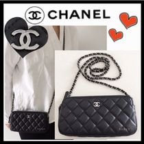 CHANEL MATELASSE Lambskin 3WAY Chain Plain Party Style Shoulder Bags