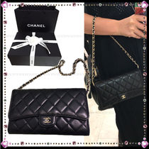 CHANEL CHAIN WALLET Lambskin 2WAY Party Style Shoulder Bags