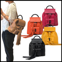 GUCCI Casual Style 2WAY Leather Backpacks