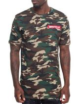 Black Pyramid Camouflage Street Style Short Sleeves Shirts