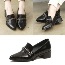 Studded Office Style Pointed Toe Shoes