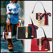 GUCCI Street Style 2WAY Leather Elegant Style Handbags