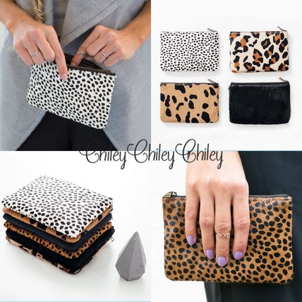Leopard Patterns Casual Style Other Animal Patterns Leather