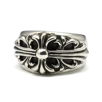 CHROME HEARTS FLORAL CROSS Rings
