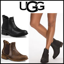 UGG Australia Casual Style Plain Leather Chelsea Boots