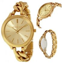 Michael Kors Casual Style Chain Stainless Analog Watches