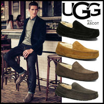 UGG Australia ASCOT Driving Shoes Sheepskin Street Style Plain