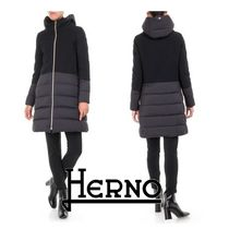 HERNO Blended Fabrics Plain Medium Down Jackets