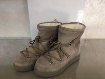 MONCLER Round Toe Casual Style Suede Plain Ankle & Booties Boots