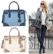 Michael Kors 2WAY Bi-color Leather Elegant Style Handbags