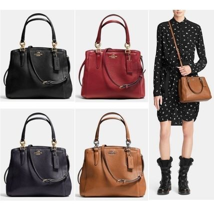 ... Coach Shoulder Bags 2WAY Plain Leather Elegant Style Shoulder Bags ... 7ade47486e8b7