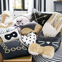 Pottery Barn Pillowcases Black & White Characters Decorative Pillows