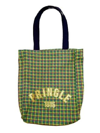 Tartan Casual Style Unisex Canvas A4 Shoppers